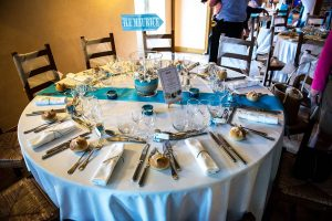 décoration table ronde
