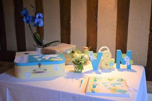 décoration table d'accueil